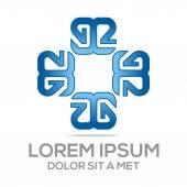 Logo letter a alphabet star vector — Stock Vector