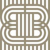 Logo Letter Line B Alphabet Vector Design — Stock Vector