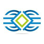Logo letter m circle symbol design icon vector — Stock Vector