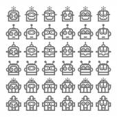 Logo Robot Head Silver Technology Icon Symbol Vector — Stock Vector