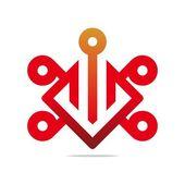 Logo Design Connecting Element Graphic Icon Symbol Vector — Stock Vector