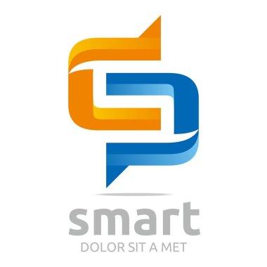 Logo letter g combination c lettemark design vector
