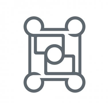 Abstract Design Logo Circle Square Connect Icon Vector