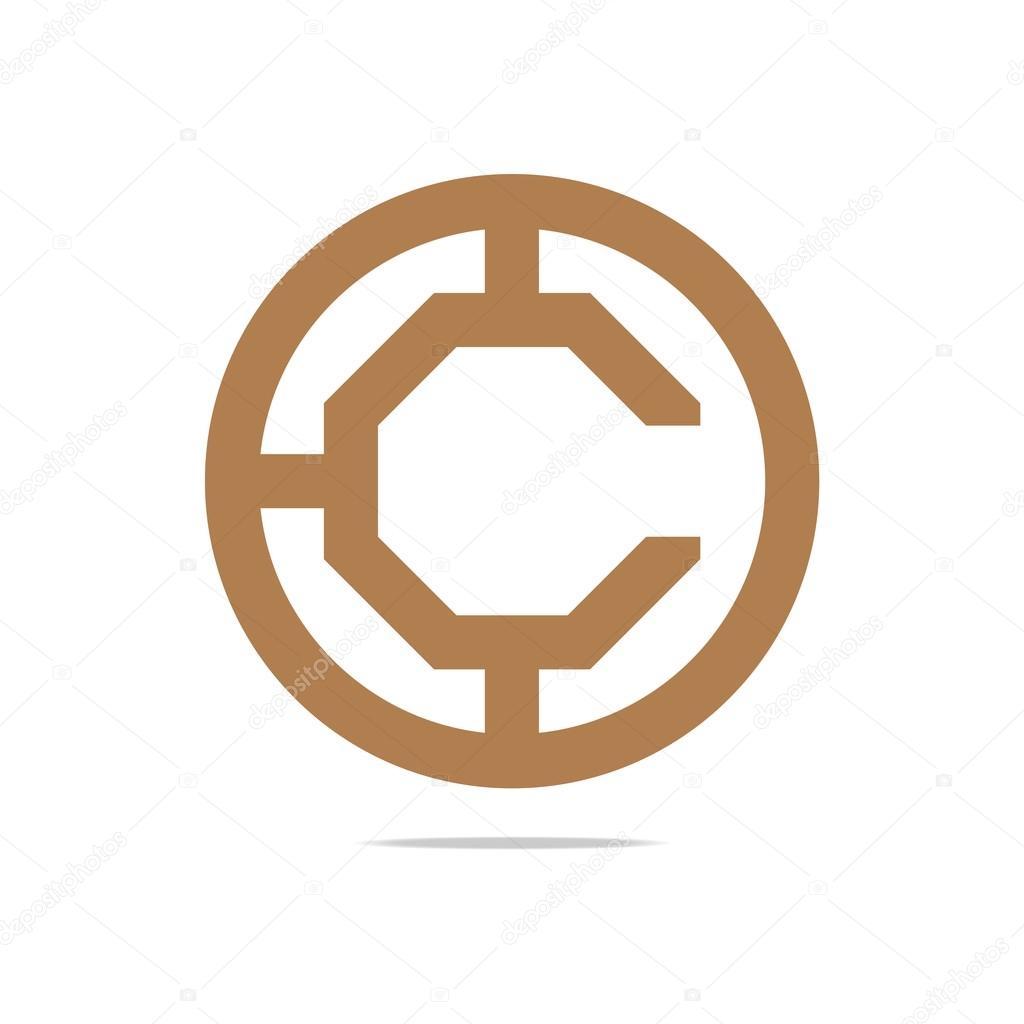 Logo Abstract circle C Design Symbol Graphic Icon Vector — Stock ...