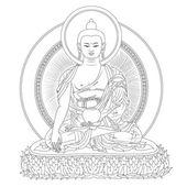 Buddha in meditation — Stock Vector