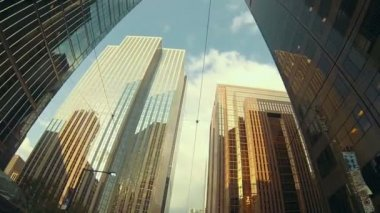 The Financial District with modern buildings — Stock Video
