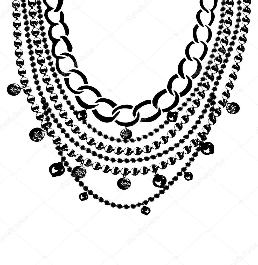 Collares de piedras \u2014 Vector de stock 77849808