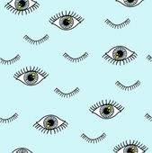 Eye pattern with eyelash — Stock Vector