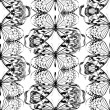 Seamless pattern with black butterflys — Stock Photo #78611390