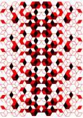 Naadloze patroon met rode en zwarte kubussen — Stockvector