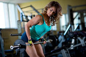 Woman training in the gym — Stock Photo