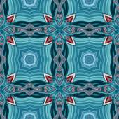 Seamless kaleidoscopic pattern in blue and red 2 — Stock Photo
