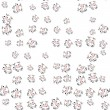 Seamless cartoon cows pattern with drop shadow on white — Stock Photo #80388108