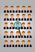 Choose an employee — Stock Vector