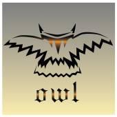 Gothic owl — Stock Vector