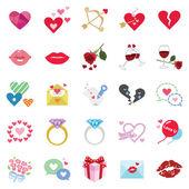 Romantic icons — Stock Vector