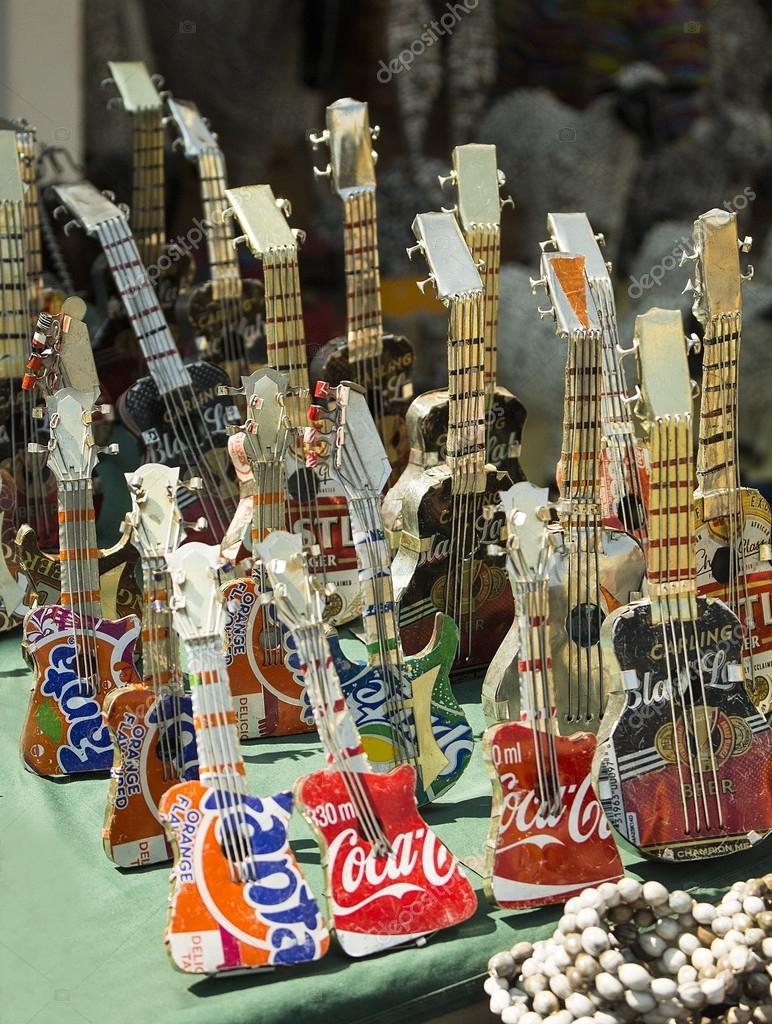 African handmade colorful toys guitar made from beer and for World of war craft com