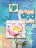 Beautiful floral postcard. — Stock Photo