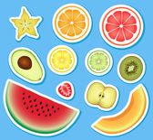 Set of fruit — Stock Vector