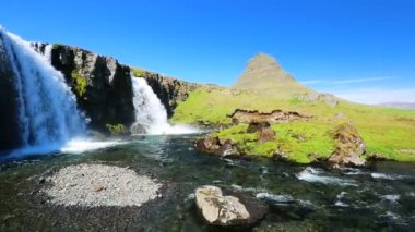 Kikjufellsfoss - Grundarfjordur — Stock Video