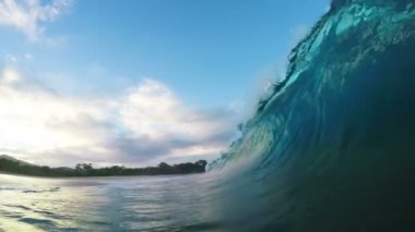 Shorebreak Sunrise — Stock Video
