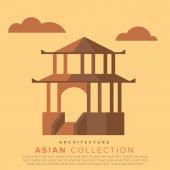 Traditional Asian architecture. — Stock Vector