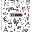 Doodle of France. — Stock Vector #80361034