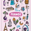Doodle of France. — Stock Vector #80361056