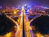 Chengdu, Sichuan, China, tianfu Avenue à noite — Fotografia Stock