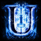 Blue Abstract Letter U — Stock Photo