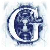 Blue Abstract Letter G — Stock Photo