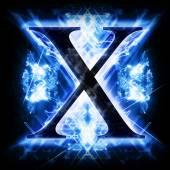 Niebieski streszczenie literą X — Zdjęcie stockowe
