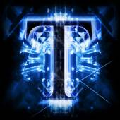 Blue Abstract Letter T — Stock Photo