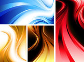 Wavy abstractions — Stock Vector