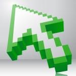 Arrow icon 3d — Stock Vector #77826572