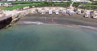Luxury beach hotel in paphos Cyprus — Stock Video