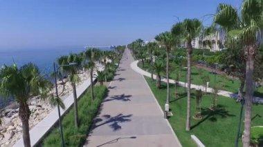Limassol promenade (molos) Cyprus — Stock Video