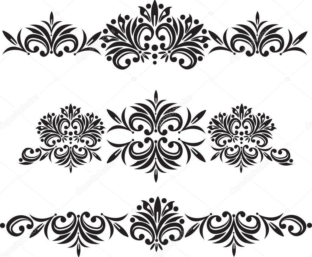 Vector motif ornemental pour les invitations de mariage cartes de voeux d cor traditionnel - Motif carte de voeux ...