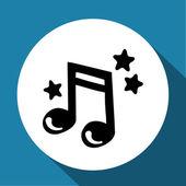 Vector black music icon — Stock Vector