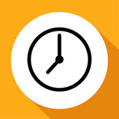 Clock vector icon — Stock Vector