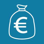 Flat euro icon — Stock Vector