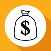Dollar icon — Stock Vector