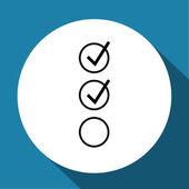 Check mark symbol,vector — Stock Vector