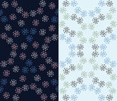 Set of 2 seamless floral patterns — Stock Vector