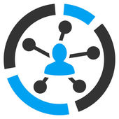 Relations diagram icon from Business Bicolor Set — Stockvektor