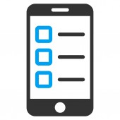 Mobile test icon from Business Bicolor Set — Stock fotografie