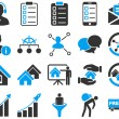 Business, sales, real estate icon set. — Stock Photo #77575602
