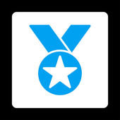 Medal icon from Award Buttons OverColor Set — Cтоковый вектор