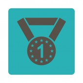 First medal icon from Award Buttons OverColor Set — Stock Photo
