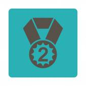 Second place icon from Award Buttons OverColor Set — Stock Photo